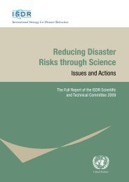 Reducing Disaster Risks through Science: Issues and Actions - unisdr