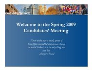 the Spring 2009 Candidates - Dolphin.upenn.edu