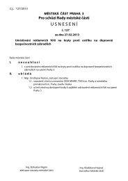 Usnesení č. 127 - Praha 3