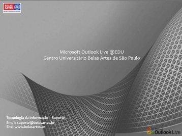 Microsoft Outlook Live - Centro Universitário Belas Artes de São Paulo