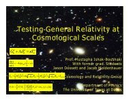 Testing General Relativity at Cosmological Scales Prof. Mustapha ...