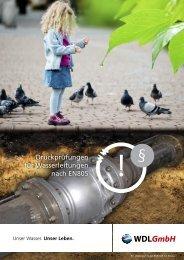 Folder Druckprüfungen für Wasserleitungen - wdl.at