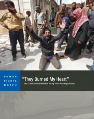 """""""They Burned My Heart"""" - Human Rights Watch"""
