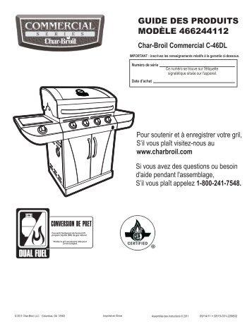 GUIDE DES PRODUITS MODÈLE 466244112 - Char-Broil Grills