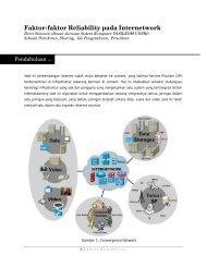 Faktor Reliability di Internetwork - Sharing