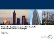 Lieferanten-Qualitätsmanagement mit SupplyOn – Prozesse und ...