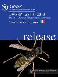 OWASP Top 10 - 2010 - ITA - Clusit