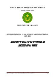 republique islamique de mauritanie - International Health Partnership