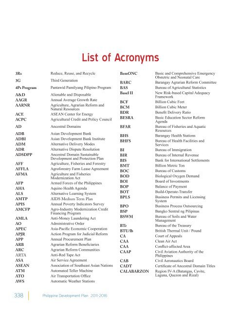 Acronyms in the Philippines