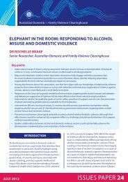 Elephant in the room: responding to alcohol misuse and domestic ...