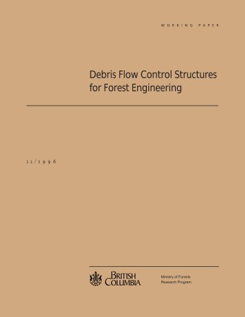 Debris Flow Control Structures for Forest Engineering