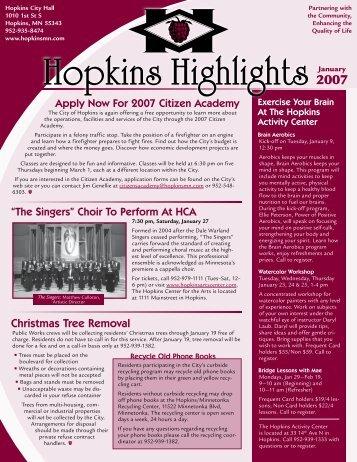 Hopkins Highlights - January 2007 - City of Hopkins