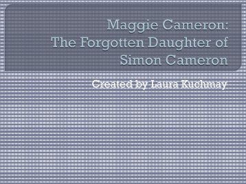 Maggie Cameron - Blogs @ Millersville University