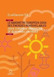 Le baromètre bilan des énergies renouvelables en Europe - 2004