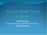 Foreign-Trade Zones in Indiana - Indiana Logistics
