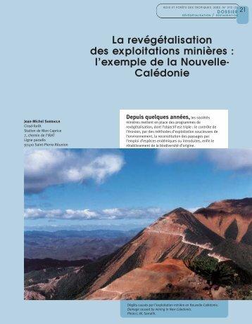 Calédonie - Bois et forêts des tropiques - Cirad
