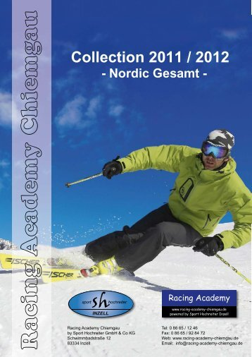 Collection 2011 / 2012 - Nordic Gesamt - racing academy chiemgau
