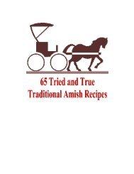 65 Amish Recipes - Free Crafts