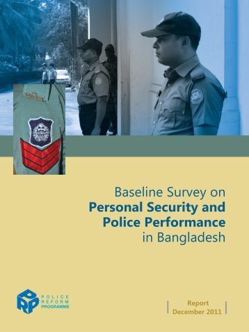 Baseline Survey on Personal Security and Police Performance in ...