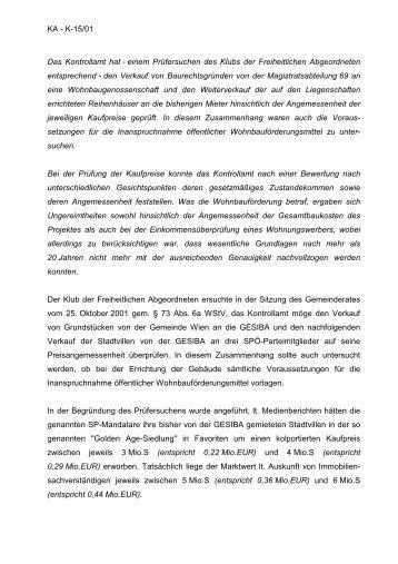 KA - Kontrollamt der Stadt Wien