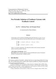 Two Periodic Solutions of Nonlinear Systems - Research India ...