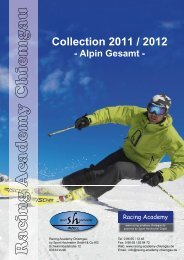 Collection 2011 / 2012 - Alpin Gesamt - racing academy chiemgau