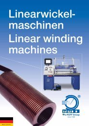 maschinen Linear winding machines - Ruff