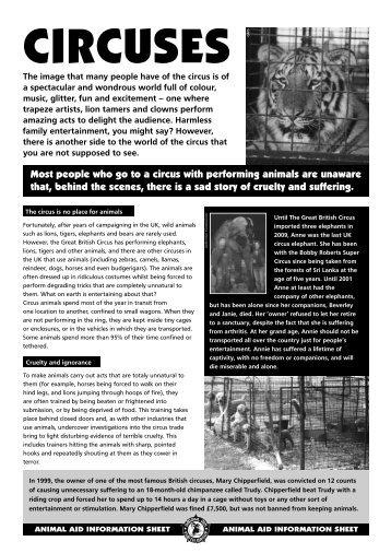 Circuses - Animal Aid