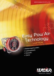 Broschüre Lüfter Easy Pow'Air Technologie double page - Leader