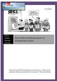 SOUTH AFRICA IN AFRICAN AND IN THE INTERNATIONAL SYSTEM