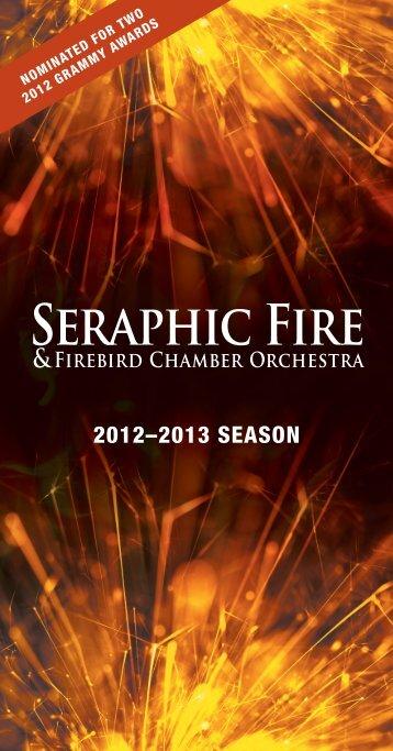 2012-2013 Season Brochure - Seraphic Fire