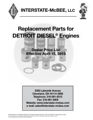 Replacement Parts for DETROIT DIESEL® Engines - Interstate McBee