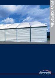 Prospekt Viel-Zweck-Raum / Multi-purpose Space - RÖDER Zelt