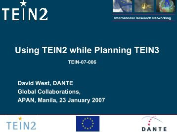 Using TEIN2 while planning TEIN3