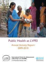 Public Health at LVPEI - LV Prasad Eye Institute