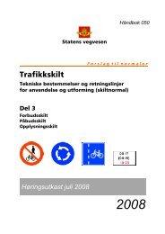 Trafikkskilt - Statens vegvesen