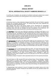 2009-2010 ANNUAL REPORT ROYAL AERONAUTICAL SOCIETY ...