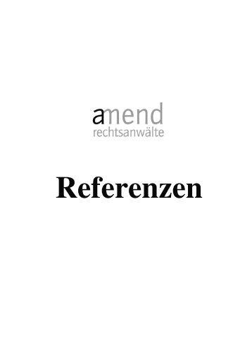 Referenzverfahren - amend rechtsanwälte