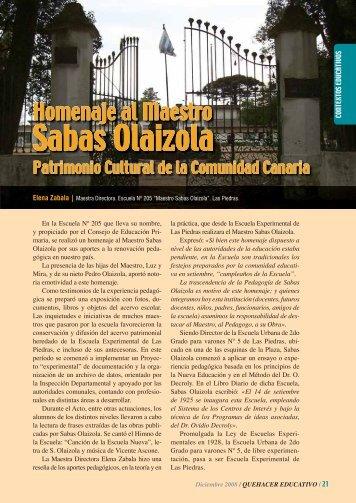 Sabas Olaizola - Quehacer Educativo