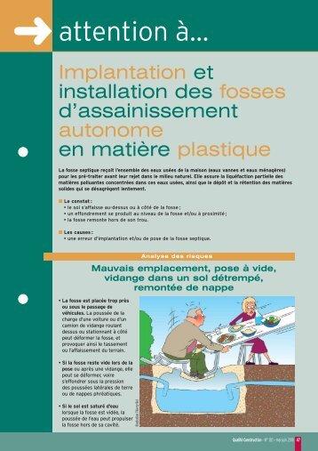 Fiche Points Sensibles - Agence Qualité Construction