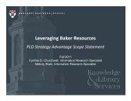 LeveragingBakerResour+ - Baker Library