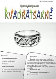 2012.g. februāris/marts Nr.6 - Jelgavas 1. ģimnāzija