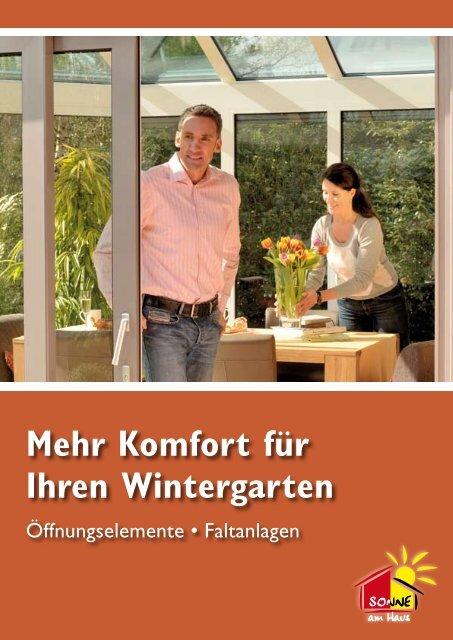 Mehr Komfort für Ihren Wintergarten