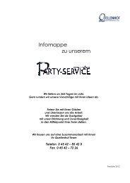 Partyservice - Quellenhof