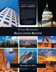2011 Utah Business Regulation Review - Administrative Rules ...