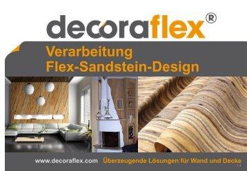 Verarbeitung Flex-Sandstein-Design