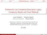 Preferential Low Complexity Description Logics ... - LoDeN