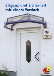 Eleganz und Sicherheit mit einem Vordach