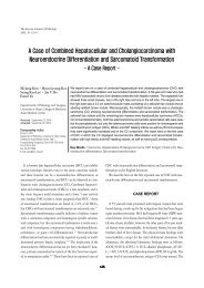 A Case of Combined Hepatocellular and Cholangiocarcinoma with ...