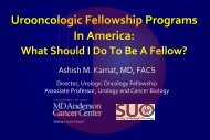 Urooncologic Fellowship Programs In America: